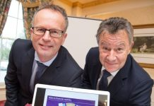 Glynn Jones from The Bank of England (left) with Graham Davies from Telford Business Partnership