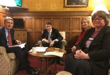 Philip Dunne MP with Chancellor, Philip Hammond, and MPs Therese Coffey and Sarah Wollaston