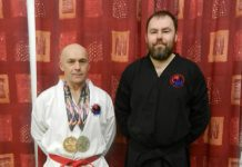 David Rowley wears international silver and bronze, and Instructor Gary Plant