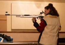 Telepost's new shooter Rachel Zielke takes aim against Harlescott B
