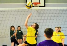 Key stage four volleyball