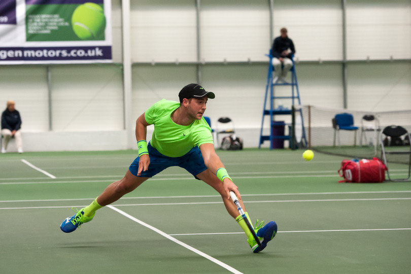 Marcus Willis in action during their quarter-final victories at The Shrewsbury Club. Photo: Richard Dawson