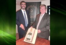 Gary Matthews and Robin Melley from Matrix Capital celebrate the extension of their contract with NS&I
