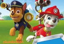 Chase and Marshall from smash hit TV show PAW Patrol, as seen on Nick. Jr