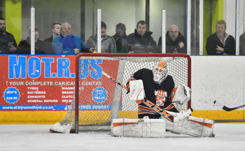 Sam Gospel in action for Telford Tigers. Photo: Steve Brodie