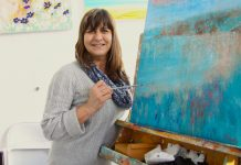 Artist Karen Duffy has opened a painting studio at Shrewsbury Market Hall