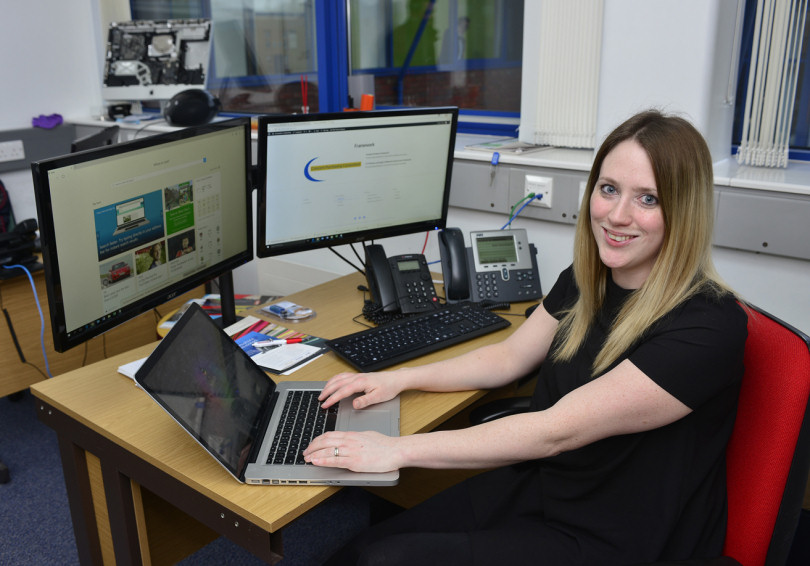 Account manager Ann Rochelle at Leegomery Computers