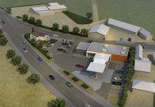 An artist's impression of the proposed petrol station and convenience store