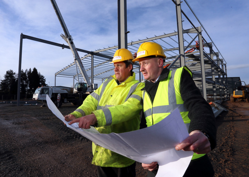 Chief Operating Office of Morris Property, James West with Site Manager Dave Fletcher