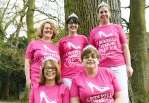 Six women from Esthetique Dental are taking part in Severn Hospice's Cinderella Midnight Walk