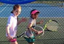 Isla McDonald-O'Brien and Imani Shah at a recent county team event - now Tennis Shropshire hope to attract more local girls to take up the sport