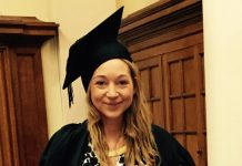 Fujitsu project leader Kathryn Best at her graduation
