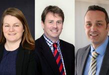 Lisa Jones, Giles Scott and Tristan Lewis