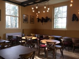 The new Carriage House Cafe seating area
