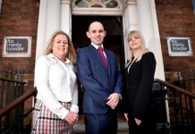 Newly appointed Associate Charlotte Nutting, Partner David Preece with Associate Michelle Monnes-Thomas