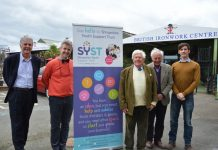 From Left to Right Mr Michael Paul SYST Trustee , Clive Knowles Chairman of BIC and SYST Trustee , Michael Stoddart President of SYST, Mr Robert Bland Chairman of SYST and former High Sherriff of Shropshire , Richard Nuttall Business Centre Manager at the SYST HQ