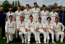 Shropshire face the camera ahead of their opening game of the season against Staffordshire, back from left: Karl Krikken (director of cricket), Will Parton, Jack McIver, Dillon Pennington, Alex Wyatt, Chris Russell, Ollie Westbury, Bryan Jones (chairman of selectors); front: Charlie Home, Ross Aucott, Steve Leach (captain), David Wainwright, George Hargrave, Ryan Lockley
