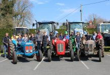 Whitchurch Young Farmers held a Tractor Run in aid of West Midlands Air Ambulance