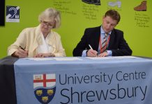 Professor Anna Sutton, Provost of UCS, and SCG Principal and CEO James Staniforth sign the Memorandum