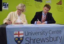 Professor Anna Sutton, Provost of UCS, and SCG Principal and CEO James Staniforth sign the Memorandum