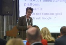 Helen Culshaw speaking at the IMTJ Medical Travel Summit