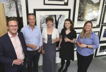 Photographer Mark Anderson (Left), with guests, Paul Parton, Caroline Lewis, Steph Henson and Leah Whitley, of Rentaspace