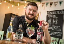 Darren Tomkins, of Gindifferent Bar, based in Shrewsbury Market Hall