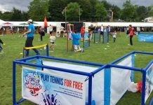 Tennis Shropshire are supporting Shropshire Kids Fest in Shrewsbury's Quarry Park this weekend