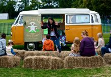 Jude and her storytelling bus Buttercup, who will also be at the show with her