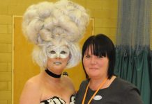 Tracey Turner with model Marie Phillips