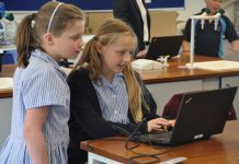 Year 5 pupils taking part in the coding and robotics Lego Mindstorm programme