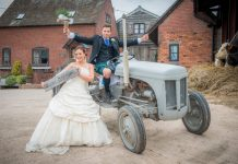 Ken and Antonia Johnston who live in Ibiza got married in Shropshire. Photo: Phil Nock Photography