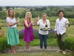 Launching the Summer Wine Party are, from left, Elodie Home, Naomi Hart, Olivia Britton and Mark Stevens