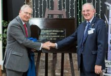 HRH The Duke of Gloucester (left) and Mr Barrie Williams Chairman, Ironbridge Gorge Museum Trust