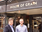 James Evans and Harry Wyatt outside House of Grain
