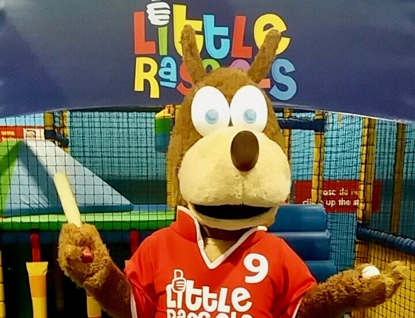 Kicca the Kangaroo, from the Little Rascals Indoor Soft Play Centre, gets ready for Sunday's charity fun day in Pontesbury