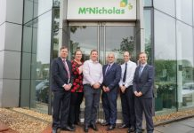 Pictured from left, David Hayward, sales and operations director at Pure Telecom; Andrea Cunningham, IT project manager at McNicholas; Stephen Pearce, ICT Infrastructure Manager at McNicholas; Duncan Niblett, business development manager at Pure Telecom; Tony Silver, senior buyer at McNicholas and Liam Baker, head of support at Pure Telecom