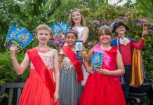 Tami Turner – Carnival Attendant, Teyana Hayman – Carnival Attendant, Ava Chaytor – Carnival Princess (back) Evie Smith – Carnival Queen and Tom Wilks – Junior Carnival Crier
