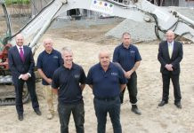 The Saxonby (Groundworks) Ltd team James Wood, Ian Rowson, Clayton Rowson, Roy Rowson, Ken Fisher and Andrew Copson