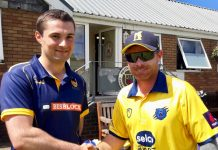 Shropshire skipper Steve Leach, left, and England star Ian Bell, the captain of Birmingham Bears, at Bridgnorth