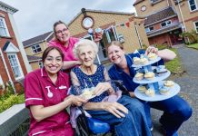Staff and residents of Myford House raising money for charity