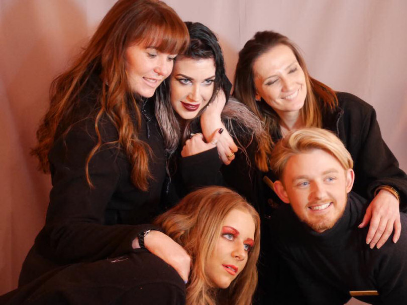 The Salon Ten team - Nicky, Lianne and Emma. Bottom: Ashleigh and Jack