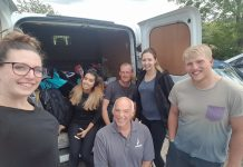 The Galliers charity Team preparing for the trek