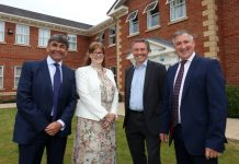 Toby Shaw of Towler Shaw Roberts with Liz Lowe, Head of Estates at Morris Property, Dave Courteen, Founder and Managing Director of Mosaic Spa and Health Club and Robin Morris, Chairman of Morris Property