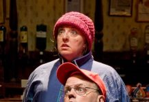 The play features no fewer than 14 characters portrayed by just two professional actors – Holly King & Adrian Monahan