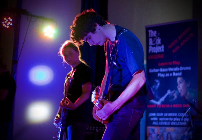 Budding young rock stars performed at Church Stretton Church Hall