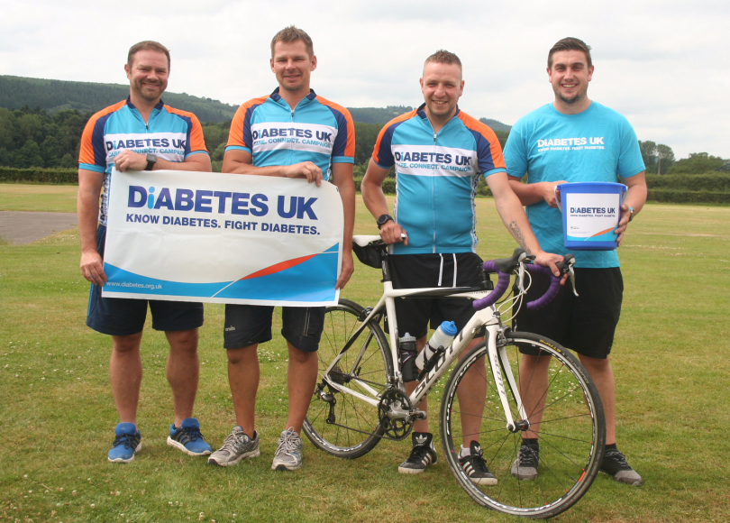 Lee Hassan, David Morris, Andrew Stewardson, Steve Adams will be taking part in the cycle ride
