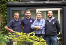 The Shire Conservatories team with Alan Titchmarsh
