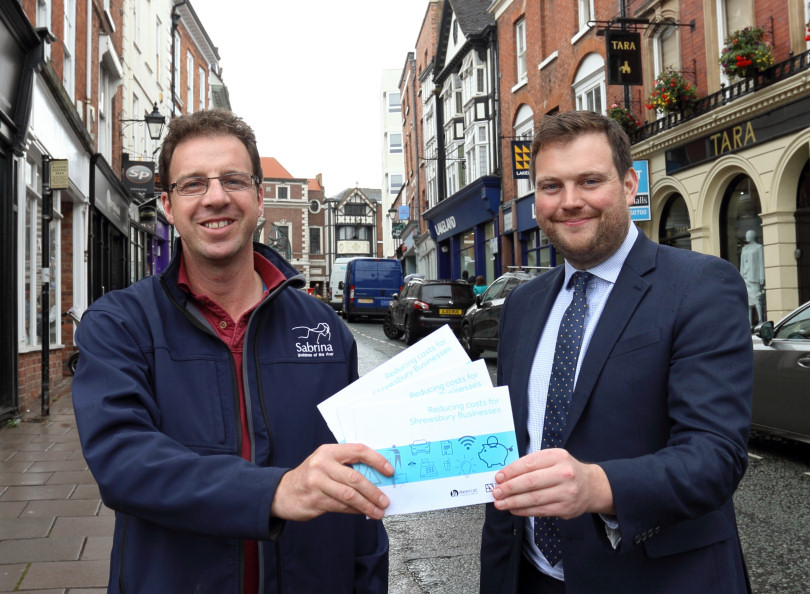 Dilwyn Jones and Seb Slater of Shrewsbury BID