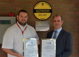 Daniel Gibbons and Andy Doyle with their awards from 2016 including the Highly Commended award which they have retained for another year